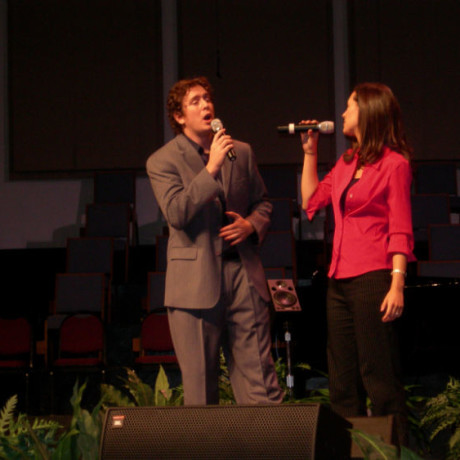 Singing in TX with my wife
