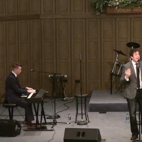 Blake with pianist Zach Sutton