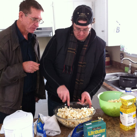 My dad and I making