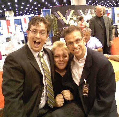 Me with Cody Boyer and Mike Helwig goofing off at National Quartet Convention