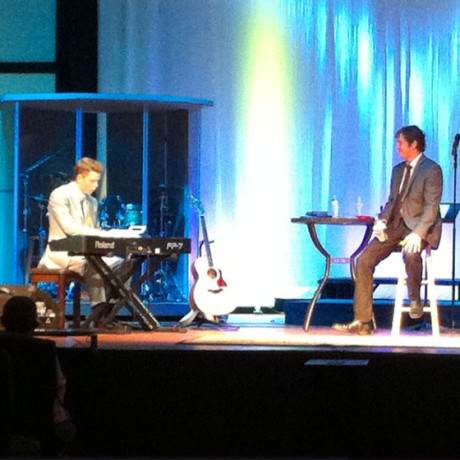 Watching my pianist, Zach Sutton, tear it up on a piano solo