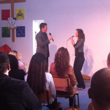 Blake and Jenna singing in Germany