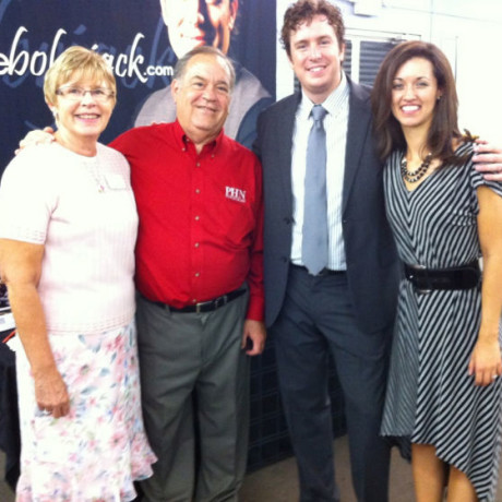Jenna and myself with gospel promoters, our friends Ken and JoAnn Carter