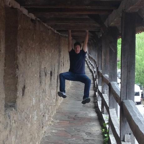 Blake hanging around in Germany