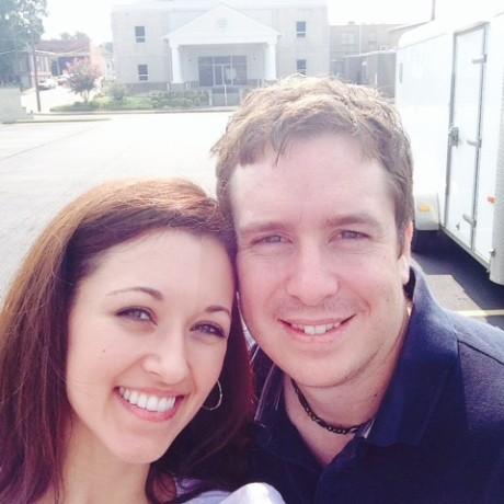 Blake and wife Jenna