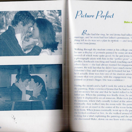 My proposal to Jenna made it into a book!